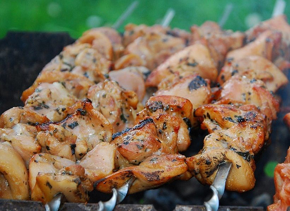 Chicken Shashlik with Basil