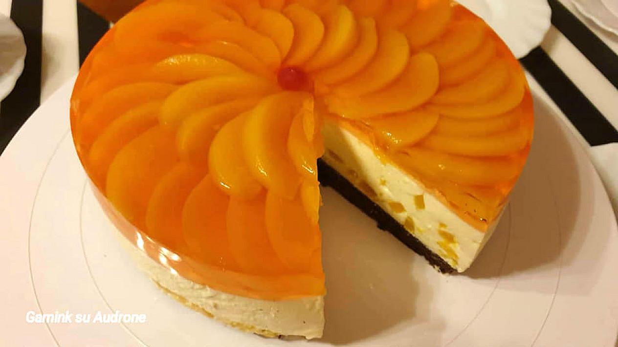 Jogurtinis varškės tortas su persikais 🍑