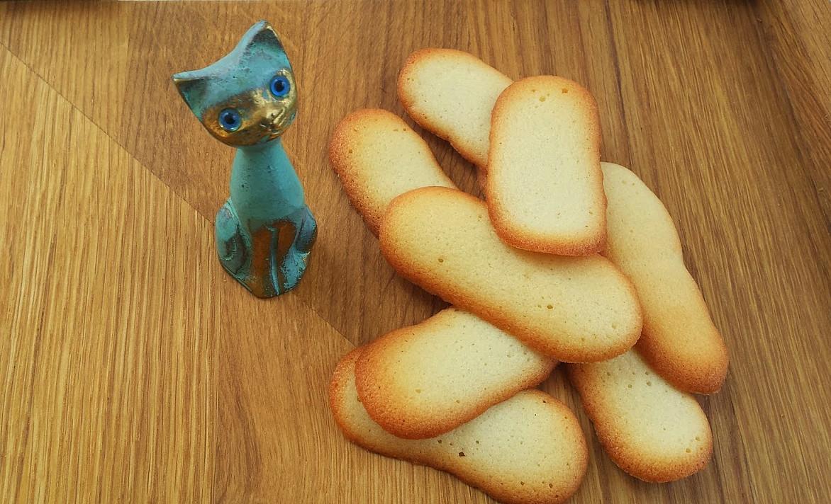 Sausainiai: Kačių liežuvėliai (Langues de chat)