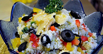 Couscous Salad with Cheese
