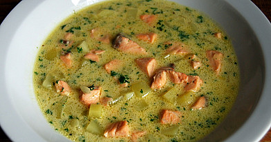 Lašišos sriuba arba thai vaikams