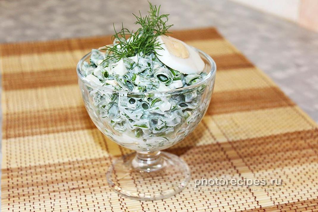 Sałatka z zieloną cebulą i jajkiem