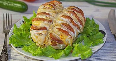 Pieczone piersi z kurczaka z pomidorami i serem