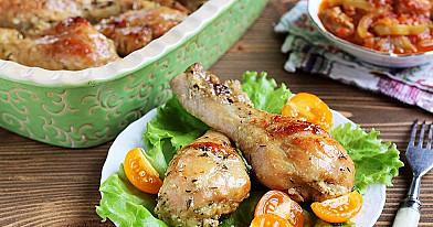Podudzia z kurczaka pieczone w piekarniku