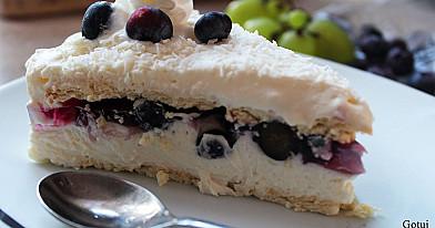 Ciasto raffaello z borówkami - bez pieczenia