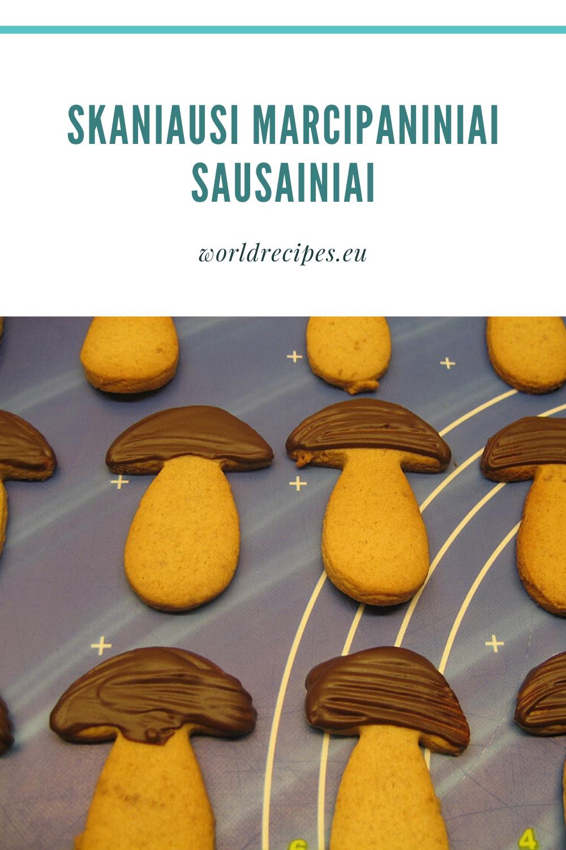 Skaniausi marcipaniniai sausainiai
