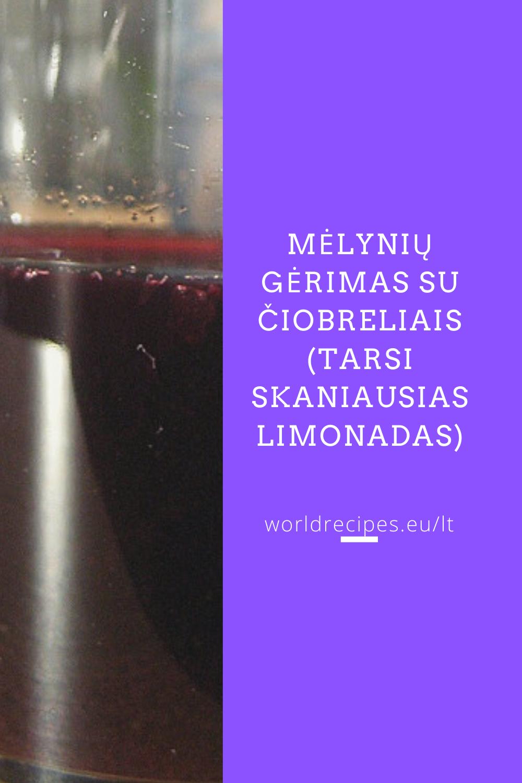 Mėlynių gėrimas su čiobreliais (tarsi skaniausias limonadas)