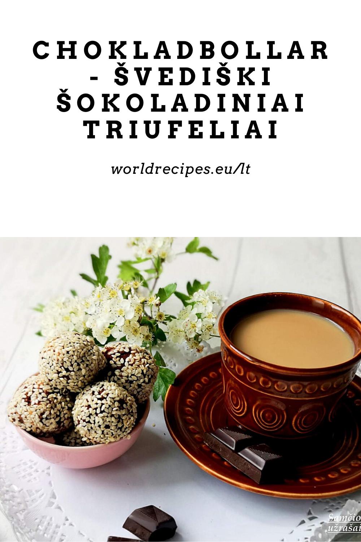 Chokladbollar - švediški šokoladiniai triufeliai