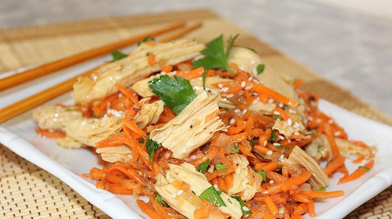 Sałatka z sojowej szparagi