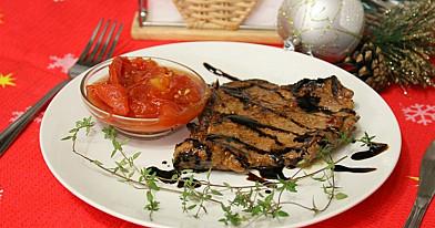 Pyszny stek wieprzowy