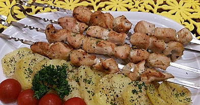Chicken Shashlik from the Oven