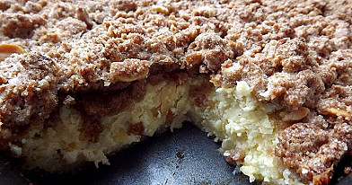 Curd and Apple Pie with Cinnamon Topping