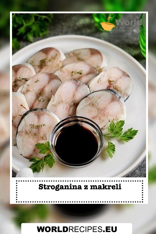 Stroganina z makreli