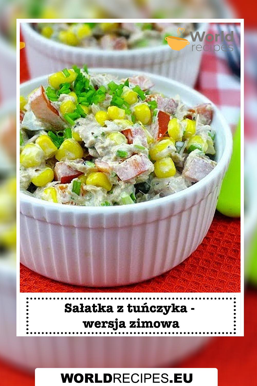 Sałatka z tuńczyka - wersja zimowa