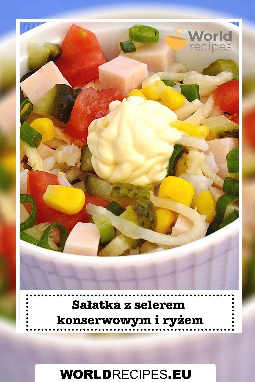 Sałatka z selerem konserwowym i ryżem
