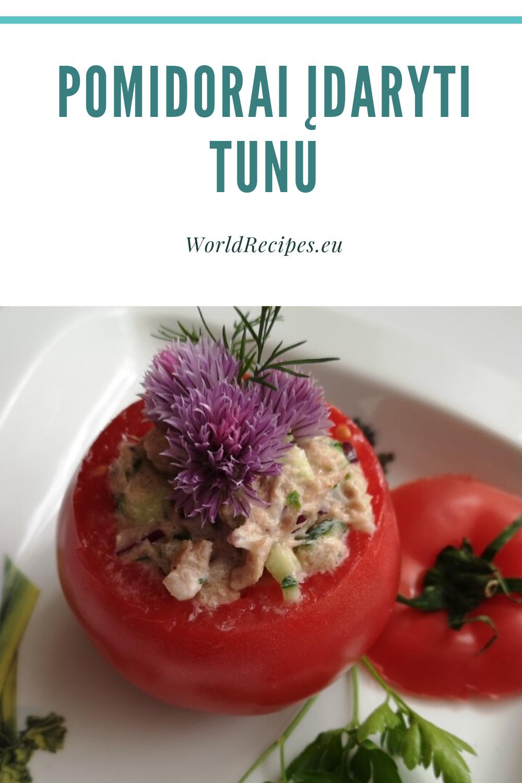 Pomidorai įdaryti tunu