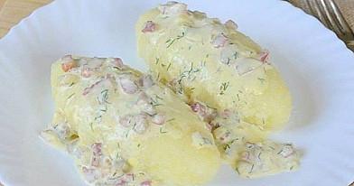 Virtų bulvių cepelinai su manais