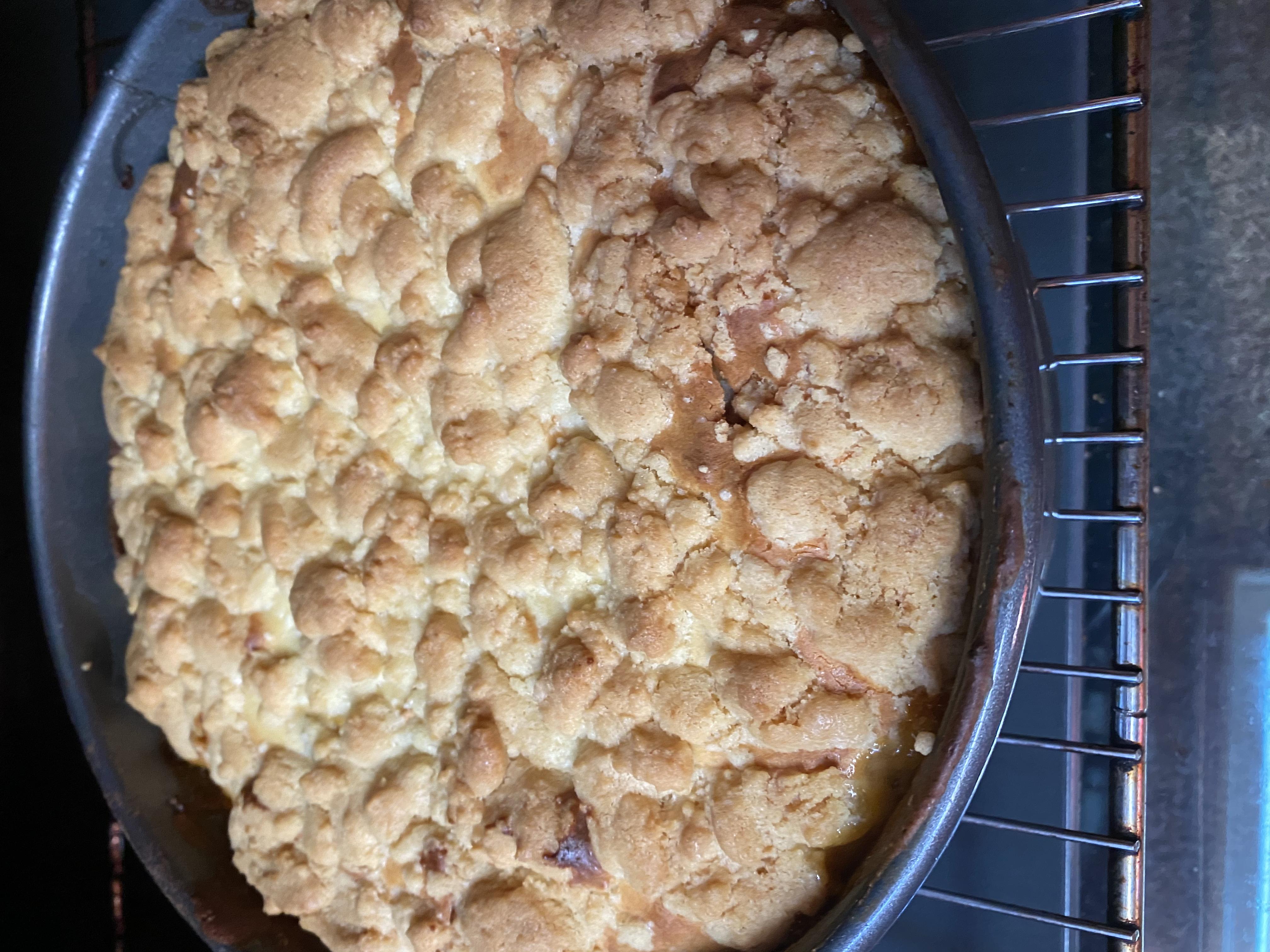 Varškės ir obuolių pyragas pagal Laurą
