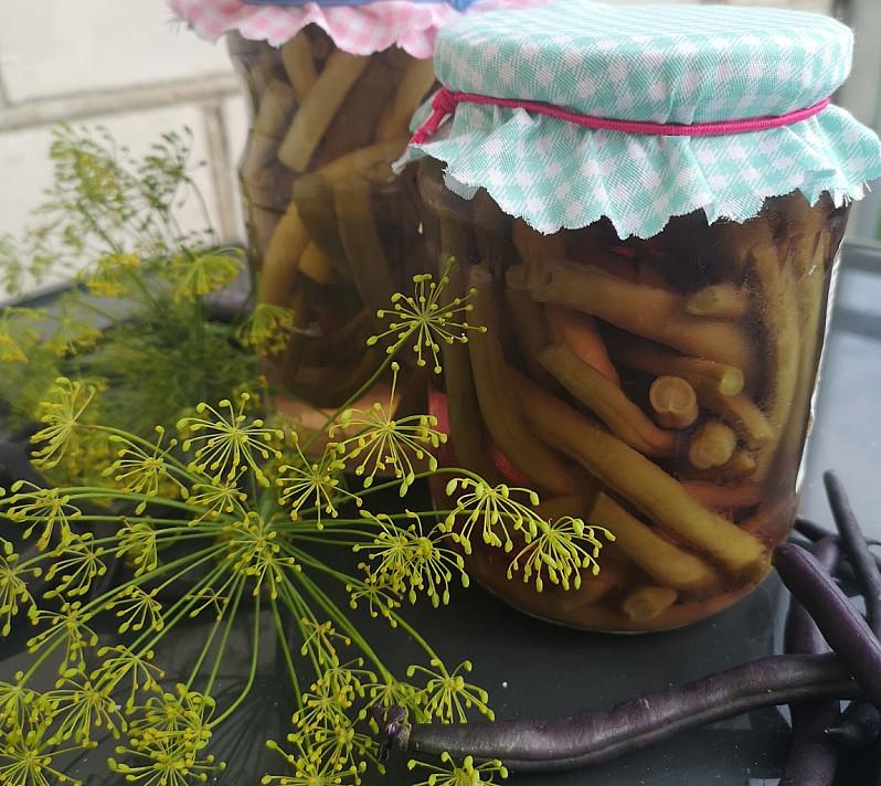 Marinuotos šparaginės pupelės (atsargos žiemai)