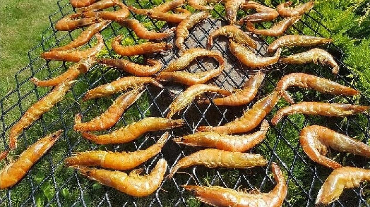 Kaip rūkinti krevetes arba rūkytos krevetės rūkyloje (su video)