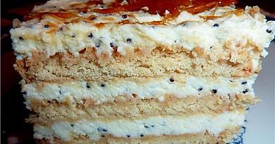 Sausainių pyragas su varške