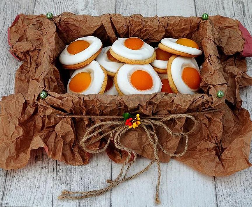 Wielkanocne ciasteczka z morelą