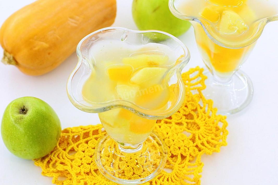Kisiel dla dzieci z jabłkiem i dynią