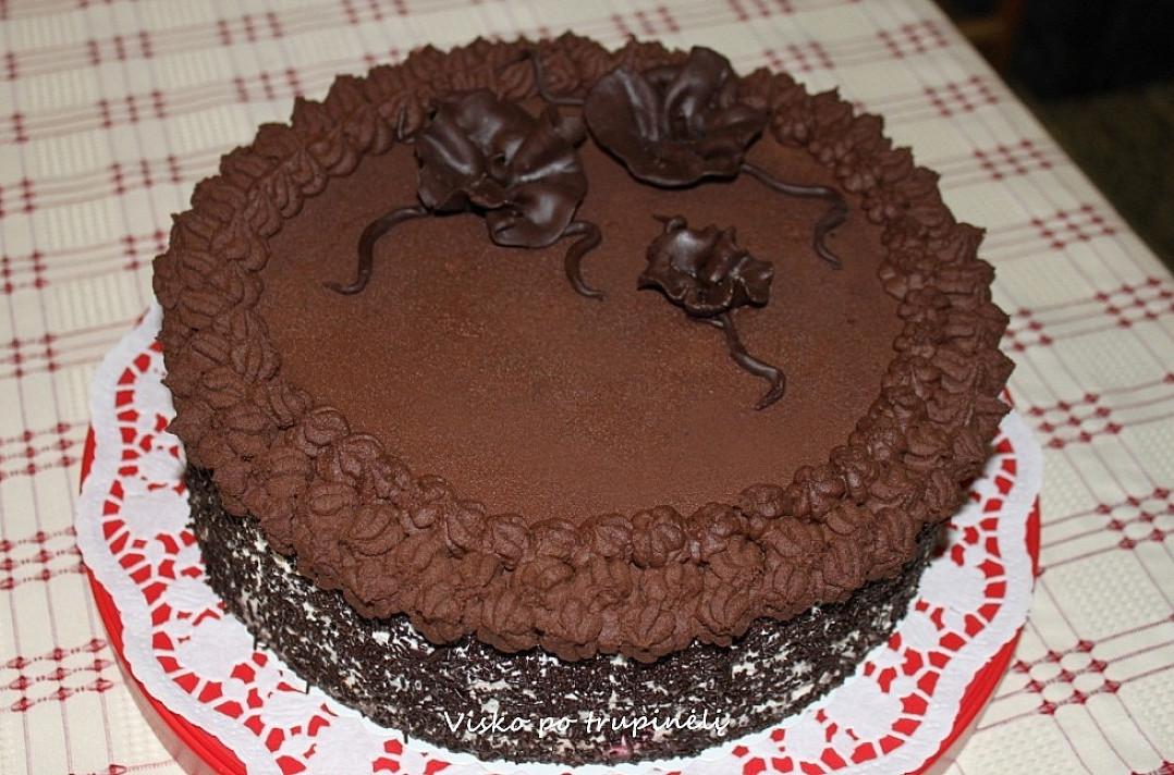 Šokoladinis ganašas - kremas tortams puošti