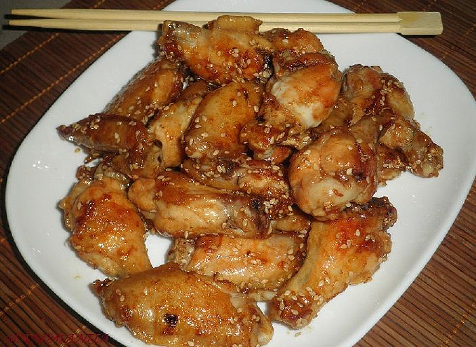 Easy to Make Wings in a Sesame Sauce
