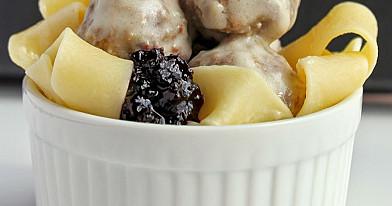 Švediški mėsos kukuliai iš malto jautienos faršo (keptuvėje)