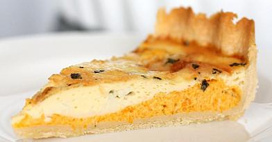 Vegetariškas apkepas su moliūgu ir gorgonzolos sūriu (be mėsos)