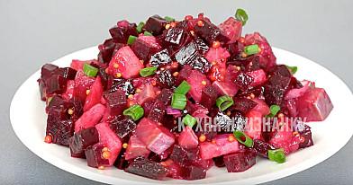 Burokėlių salotos su silke (be majonezo)