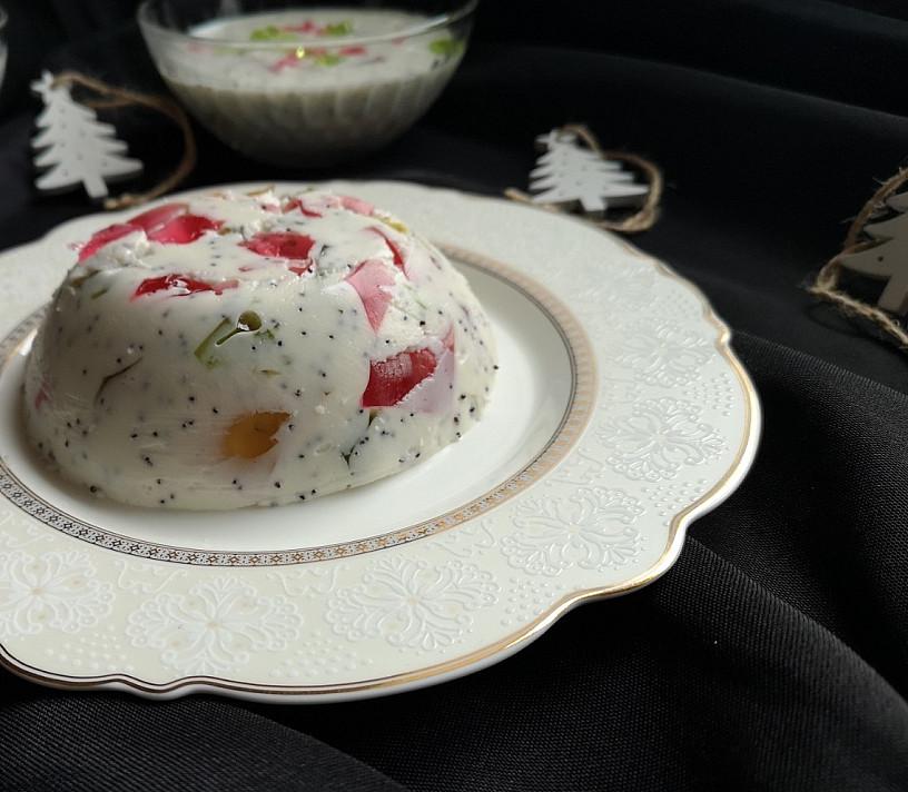 Želė desertas su kefyru