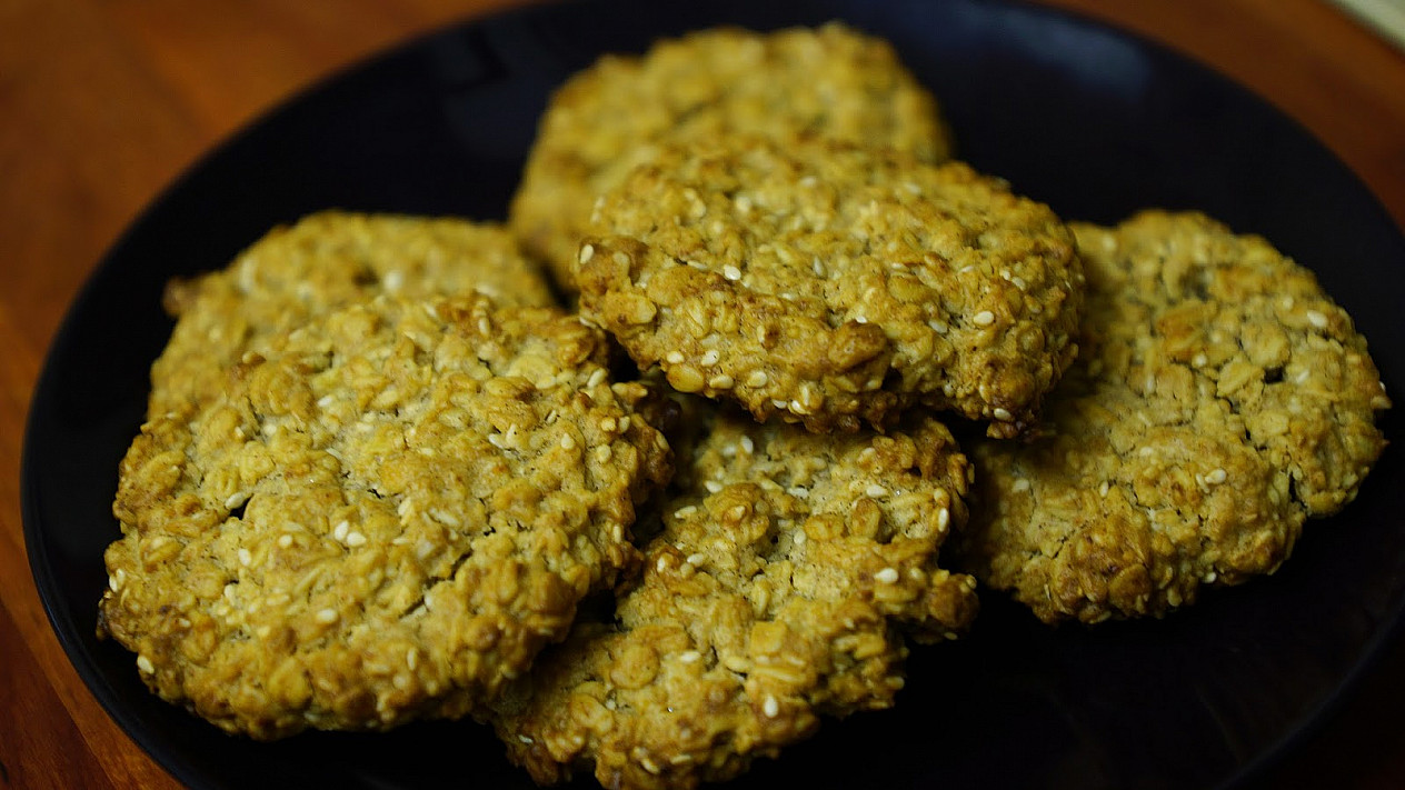 Avižiniai sausainiai su grietine (be kiaušinių)