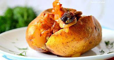 Grybais įdarytos bulvės | Receptas