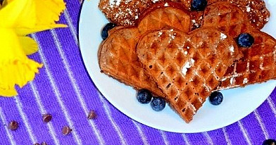 Chocolate Hearts (Pancakes)