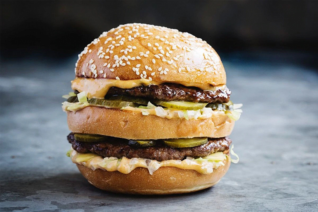 Big Mac mėsainis su jautiena   Receptas