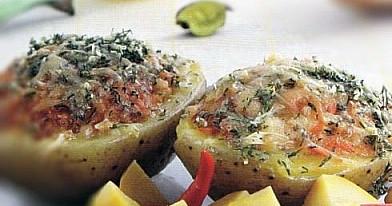 Фаршированный картофель с овощами