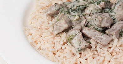 Scharfes Huhn und Spinat Einfach
