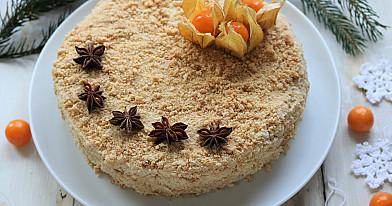 Веганский медовый торт - медовик