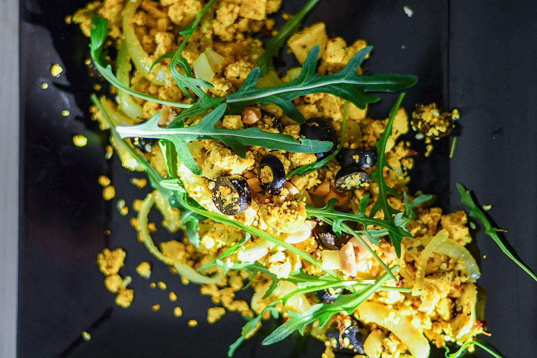 Veganiška Tofu kiaušinienė