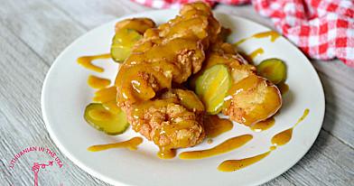 Хрустящий жареный цыпленок в кисло-сладком горчичном соусе