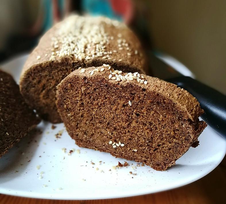 Солодовый домашний черный хлеб на кефирных дрожжах без дрожжей
