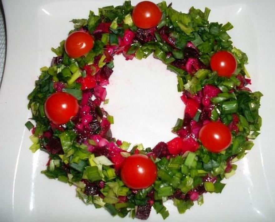 """Šventinis silkės receptas """"Kalėdinis vainikas"""""""