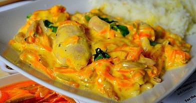 Hühnchen mit Karottensauce
