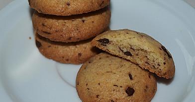 Сливочное американское домашнее печенье шоколадной крошкой