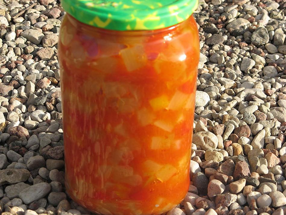 Cukinija su paprika (atsargos žiemai)