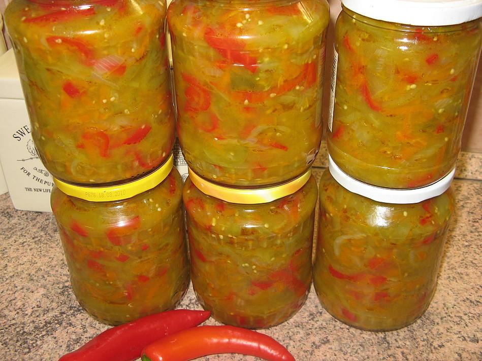 Žalių pomidorų salotos - mišrainė žiemai