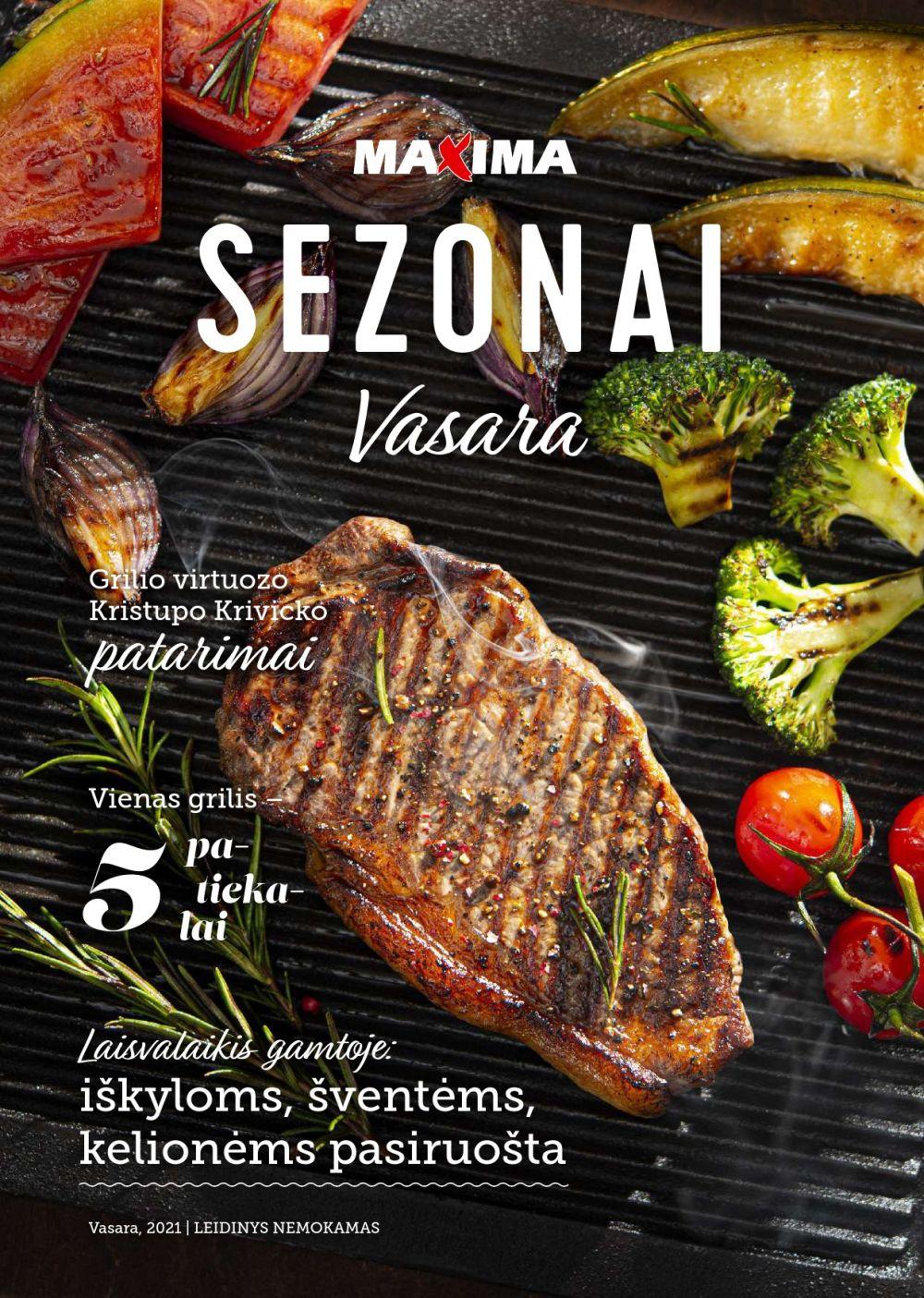 MAXIMA SEZONAI akcijų ir nuolaidų leidinys 2021-06-01 - 2021-08-31