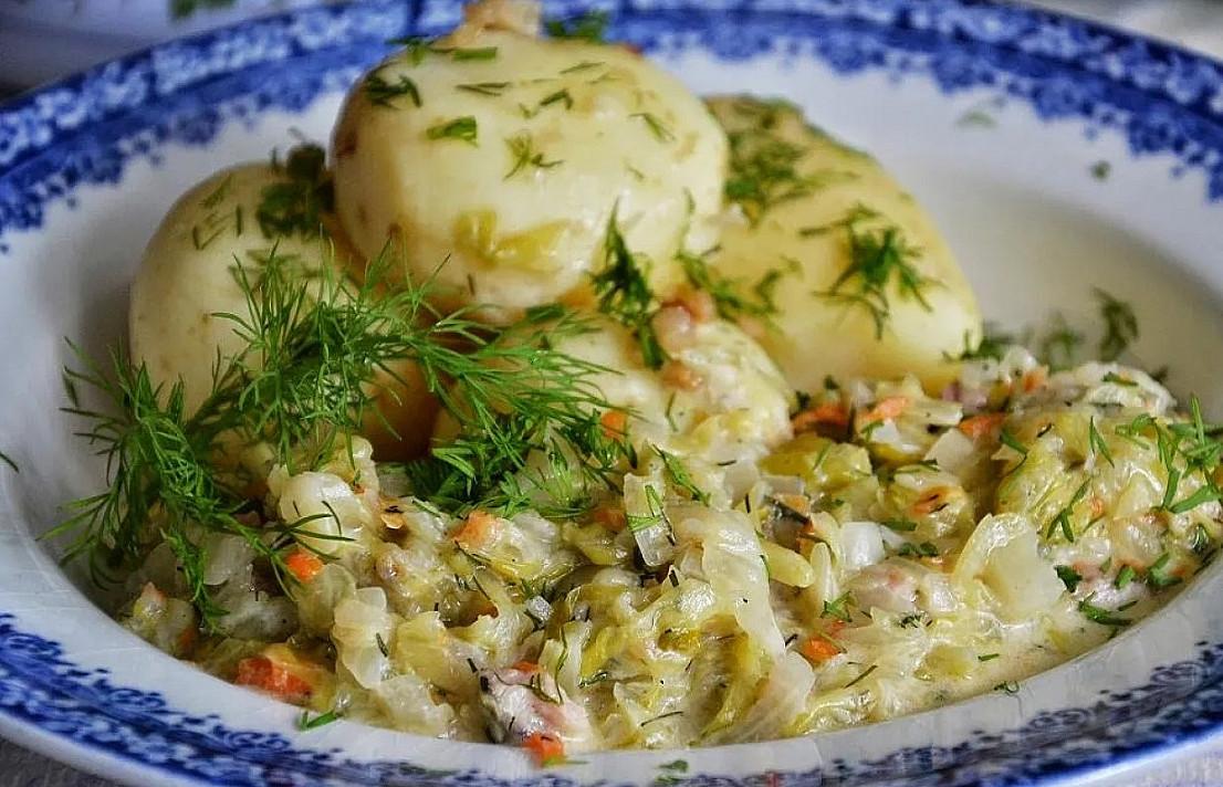 Savojos kopūstai grietinėlėje - tarsi salotos